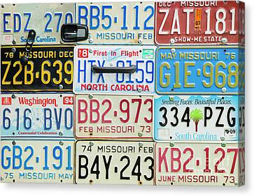 Volkswagon Canvas Print - License Plates by Tim Gainey