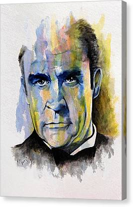 License To Kill - Sean Connery Canvas Print by William Walts