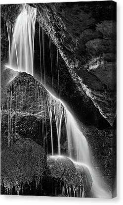 Lichtenhain Waterfall - Bw Version Canvas Print