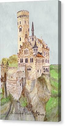 Lichtenstein Castle Canvas Print by Angeles M Pomata