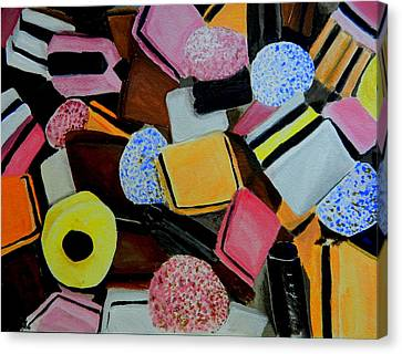 Licorice Canvas Print - Licorice All Sorts by Betty-Anne McDonald
