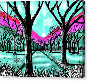Licorice Canvas Print - Licorice Forest by Steve Farr