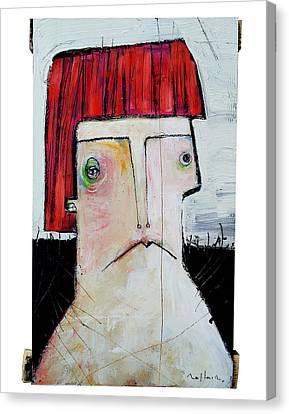 Primitive Art Canvas Print - Life As Human Number Seven by Mark M  Mellon