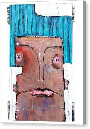 Primitive Art Canvas Print - Life As Human Number Six by Mark M  Mellon