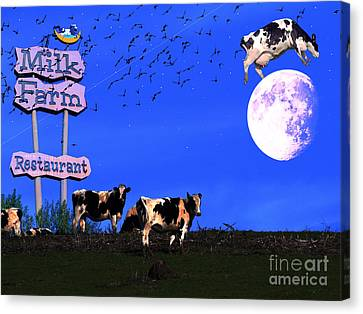 Life At The Old Milk Farm Restaurant After The Lights Went Out For The Last Time In 1986 Canvas Print