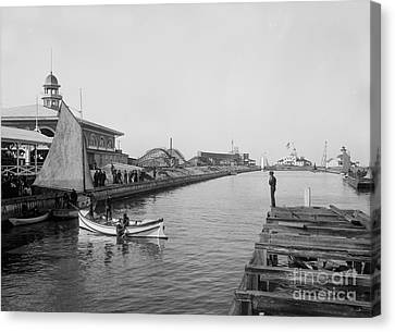 Life Boat Practice  New Orleans Ca 1890 Canvas Print