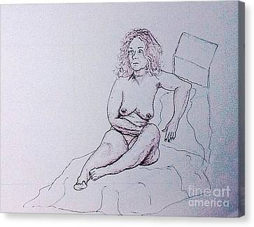 Life Drawing Nude Canvas Print