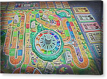 Life Game 7 - Painterly Canvas Print by Steve Ohlsen