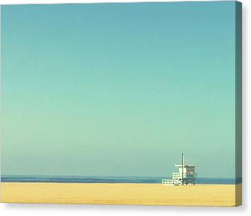 Life Guard Tower Canvas Print by Denise Taylor