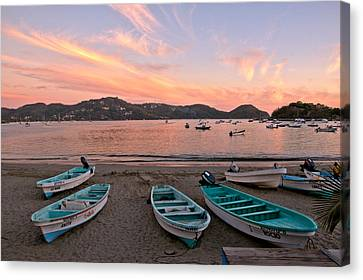 Life In A Fishing Village Canvas Print by Jim Walls PhotoArtist