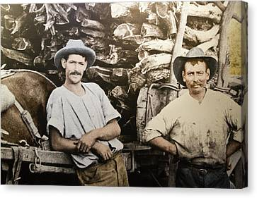 Canvas Print featuring the photograph Life In Australia 1901 To 1914 by Miroslava Jurcik