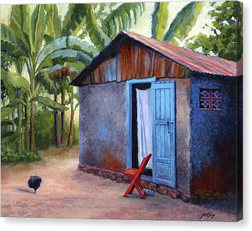 Life In Haiti Canvas Print by Janet King
