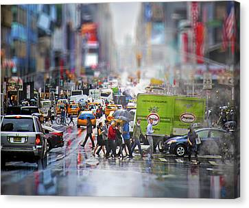 Life In New York City Canvas Print by Mark Andrew Thomas