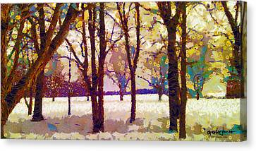 Life In The Dead Of Winter Canvas Print by Gustav James
