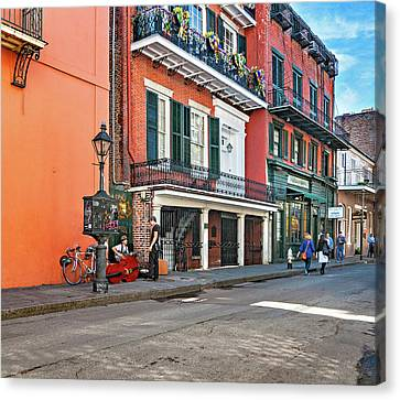 Wrought Iron Bicycle Canvas Print - Life In The Quarter by Steve Harrington