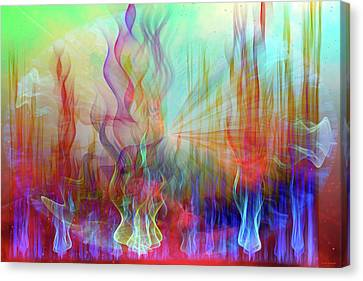 Canvas Print featuring the digital art Life Is A Beautiful Mystery by Linda Sannuti