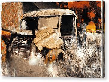 Life Is A Highway Canvas Print by Bob Salo