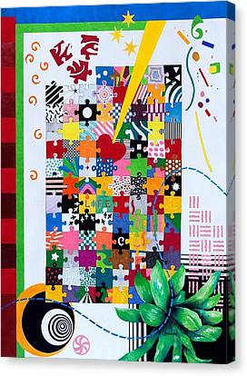 Life Is A Puzzle Canvas Print by Thomas Gronowski