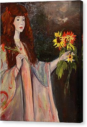 Life Is Fragile Handle With Flowers Canvas Print by Jane Autry