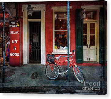 Canvas Print featuring the photograph Life Is Good Bicycle by Craig J Satterlee