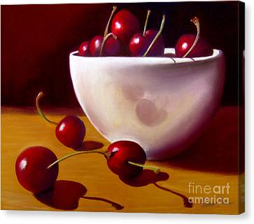 Life Is Just A Bowl Of Cherries Canvas Print by Colleen Brown