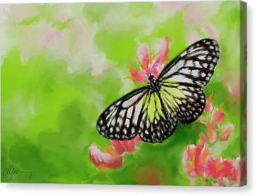 Life Is Like A Butterfly Canvas Print by Michael Greenaway