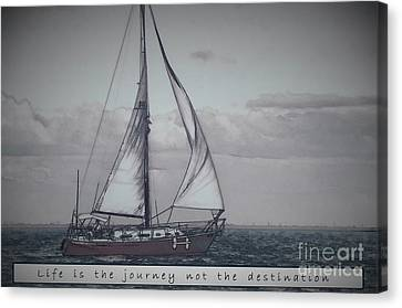 Life Is The Journey Canvas Print
