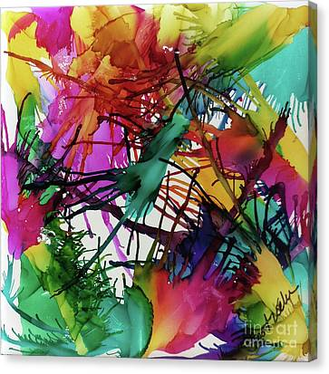 Life Of Color Canvas Print by Jo Ann Bossems