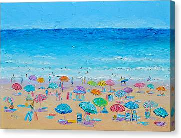 Tropical Beach Canvas Print - Life On The Beach by Jan Matson