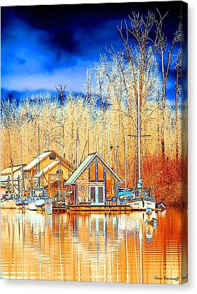 Life On The River Canvas Print by Steve Warnstaff