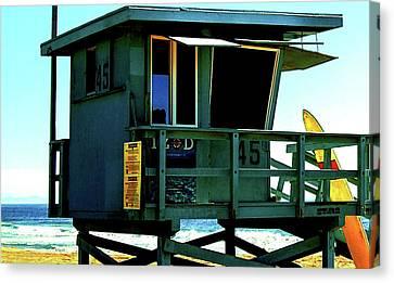 Izod Canvas Print - Lifeguard Station 45 by Howard Dando