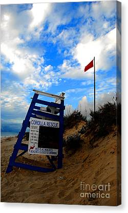 Canvas Print featuring the photograph Lifeguard Aol by Linda Mesibov