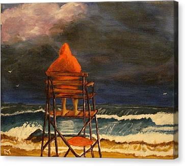 Lifeguard On Duty Canvas Print by Rita Tortorelli