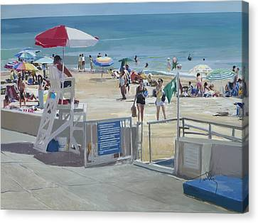 Lifeguard On Duty Canvas Print