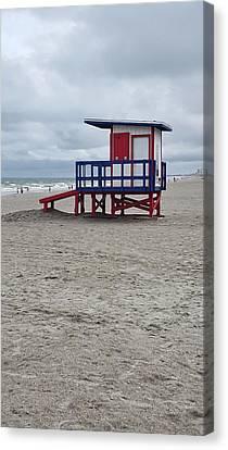 Breaking Rules Canvas Print - Lifeguard Shack - Cocoa Beach - Florida by Greg Jackson