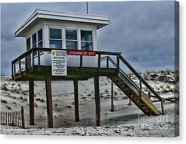 Lifeguard Station 1 Canvas Print by Paul Ward