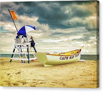 Lifeguards At Cape May Point Canvas Print