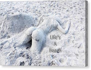 Life's A Beach By Sharon Cummings Canvas Print by Sharon Cummings