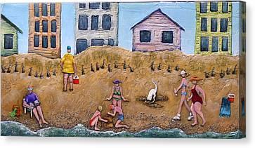 Life's A Beach Canvas Print by Linda Carmel