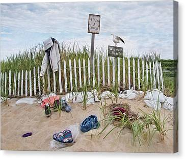 Canvas Print featuring the photograph Life's A Beach by Robin-Lee Vieira