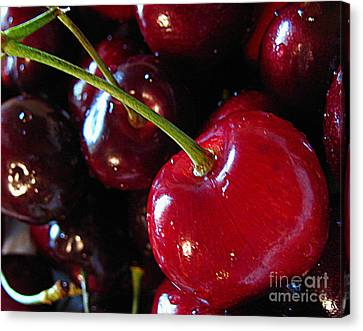 Life's A Bowl Of Cherries Canvas Print by Colleen Kammerer
