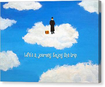 Life's A Journey Greeting Card Canvas Print