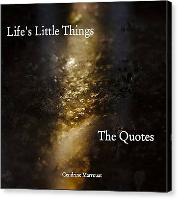 Canvas Print featuring the photograph Life's Little Things The Quotes by Cendrine Marrouat