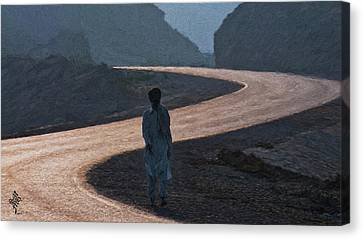 Life's S Curves Canvas Print by Syed Muhammad Munir ul Haq
