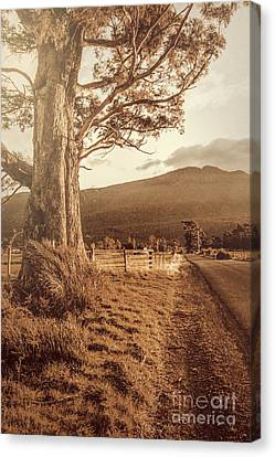 Old Country Roads Canvas Print - Liffey Vintage Rural Landscape by Jorgo Photography - Wall Art Gallery