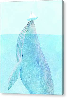 Whale Canvas Print - Lift Option by Eric Fan
