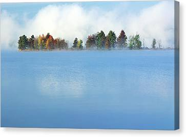 Lifting Fog Canvas Print by Jim Nelson