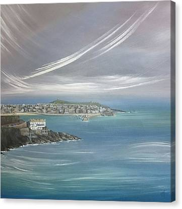 Canvas Print - Lifting Fog, St.ives  by Keran Sunaski Gilmore