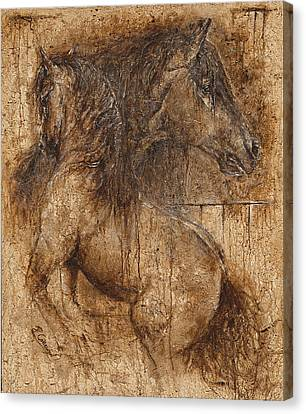 Lifting My Spirit- Spirit Of Life Canvas Print by Paula Collewijn -  The Art of Horses