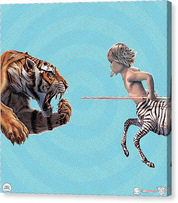 Liger  Swift Hand Canvas Print